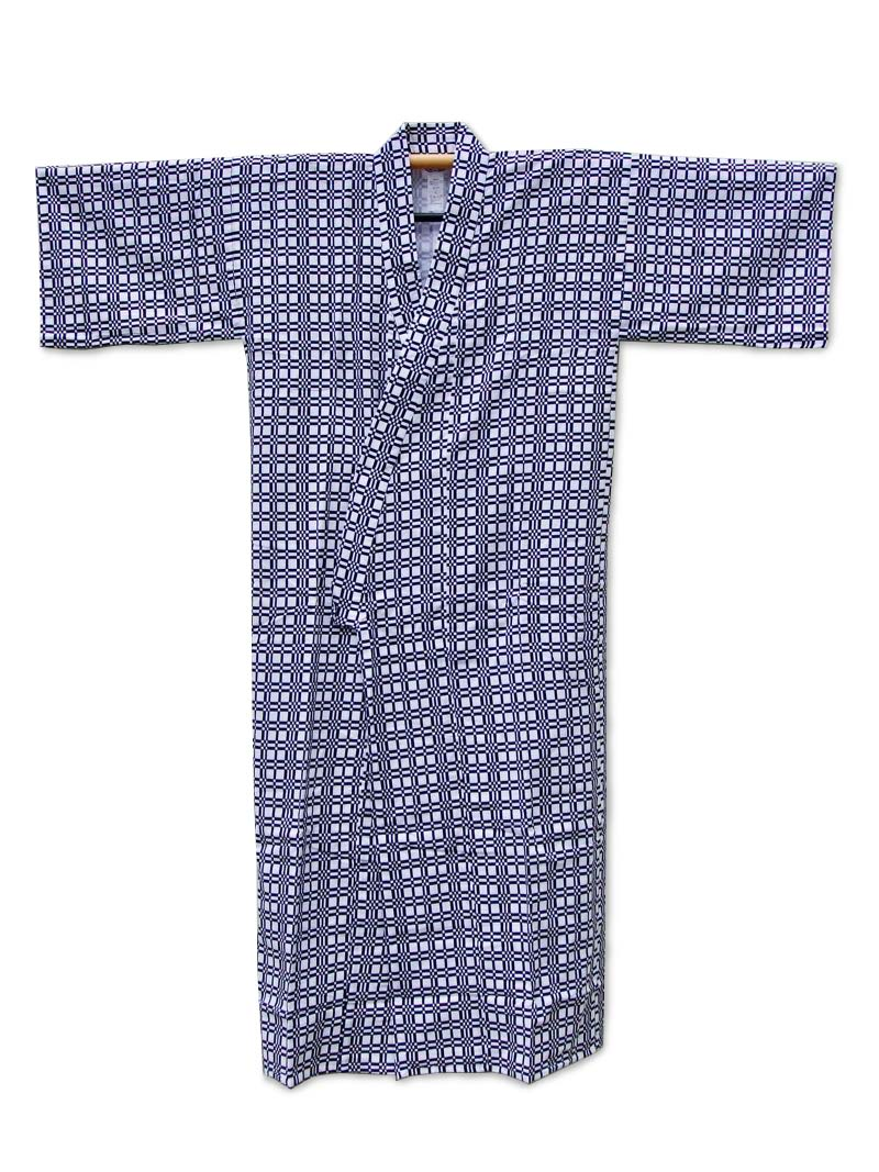 Mens Nightgown nemaki cotton Japanese kimono - Vintage kimono from ...